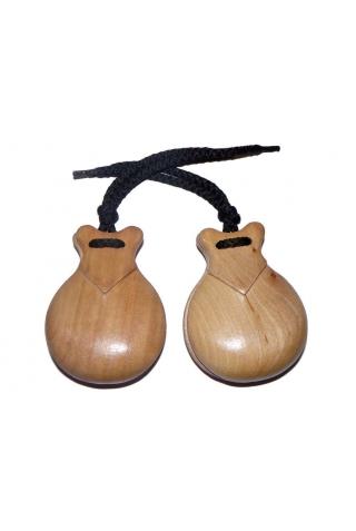 Castañuelas Bubinga Natural Semiprofesional