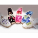 Esparto-Soled Sandals with Art