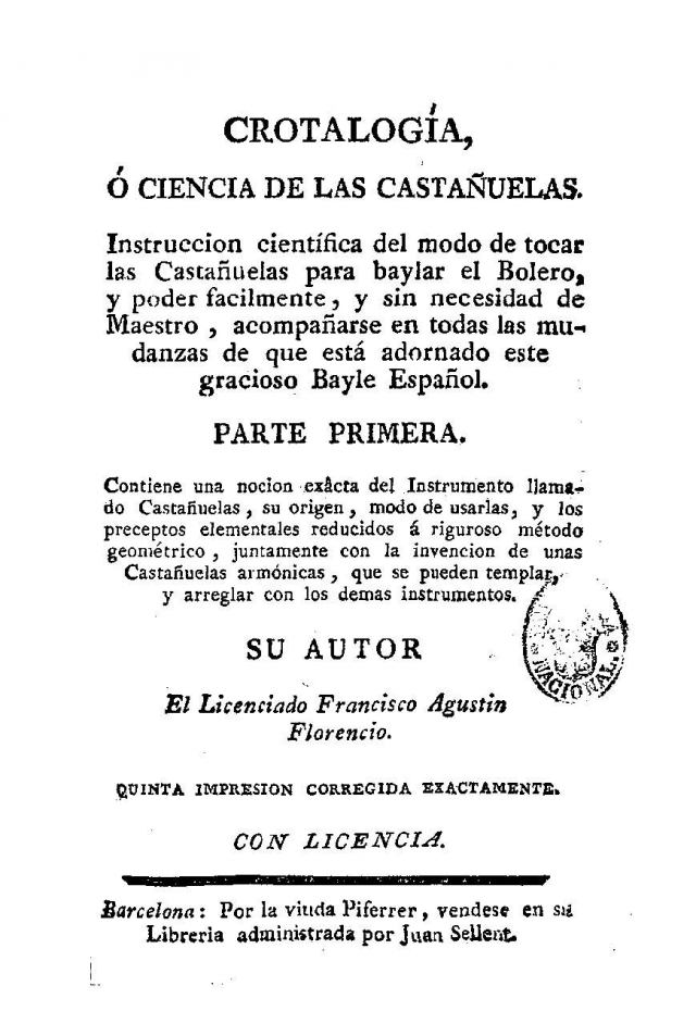 """""""Crotalogía or Science of the Castanets"""""""