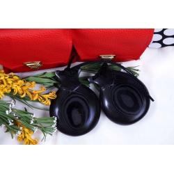 Castagnettes Caprice Tissu Noir Veiné pour Professionnels, les Enveloppantes
