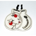 Castanets Pin Ivory Two laces