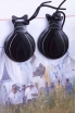 Professional Marbled Black Fabric Castanets, the Romance