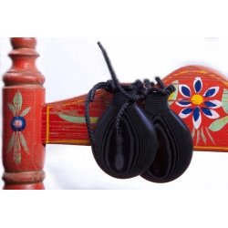 Special Black Fabric Castanets Teachers, the Orejilla